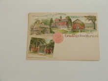 """Greetings from Harvard"" Postcard 1896"