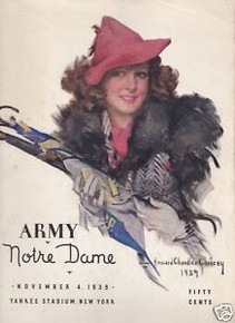Army v. Notre Dame Football Program 1939 - Christy Cover