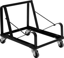 Black Steel Sled Base Stack Chair Dolly