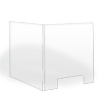 "TopLine L Shaped Counter Shield 24 "" x 24 """