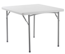 """Deluxe 36x36 Lightweight Heavy Duty 1-3/4"""" Thick Plastic Folding Table, Speckled Gray"""