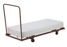 """Deluxe Rectangular Folding Table Dolly For Horizontal Storage, Up To 96"""" L"""
