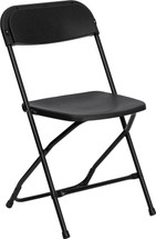 800 lb. Capacity Premium Black Plastic Folding Chair
