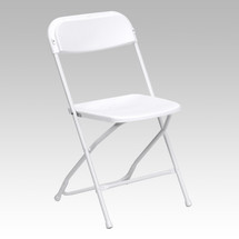 Series 800 lb. Capacity Premium White Plastic Folding Chair