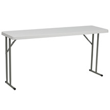 18''W x 60''L Granite White Plastic Folding Training Table