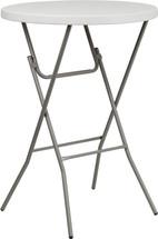 32'' Round Granite White Plastic Bar Height Folding Table RB