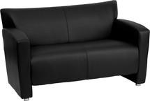 Majesty Series Black Leather Loveseat