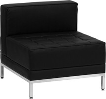 Imagination Series Contemporary Black Leather Middle Chair