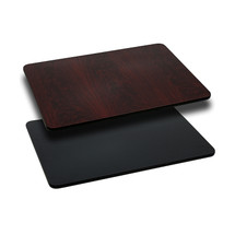30'' x 48'' Rectangular Table Top with Black or Mahogany Reversible Laminate Top