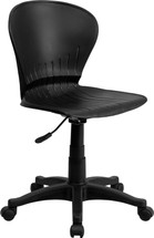Mid-Back Black Plastic Swivel Task Chair