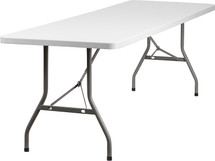 "8' 2"" Thick Granite White Plastic Folding Table"