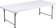 5-Foot Kid's Granite White Plastic Folding Table
