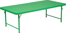 5-Foot Kid's Green Plastic Folding Table