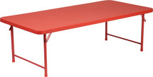 5-Foot Kid's Red Plastic Folding Table