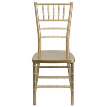 PREMIUM Series Gold Resin Stacking Chiavari Chair