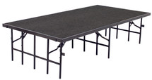 """4' x 8' Stage, 8"""" Height, Grey Carpet"""