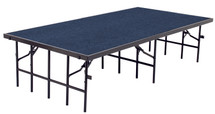 """4' x 8' Stage, 8"""" Height, Blue Carpet"""