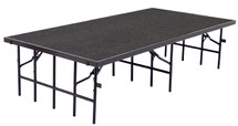 """4' x 8' Stage, 32"""" Height, Grey Carpet"""