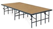 "4' x 8' Stage, 8"" Height, Hardboard Floor"