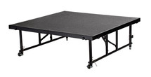 "24"" -32"" Height Adjustable 4' x 4' Transfix Stage Platform, Grey Carpet"