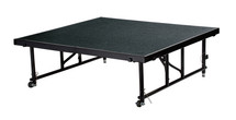 "24"" -32"" Height Adjustable 4' x 4' Transfix Stage Platform, Black Carpet"