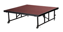 "24"" -32"" Height Adjustable 4' x 4' Transfix Stage Platform, Red Carpet"