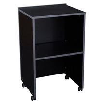 AV Cart/Lectern Base, Black