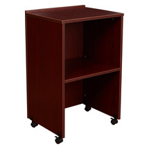 AV Cart/Lectern Base, Mahogany