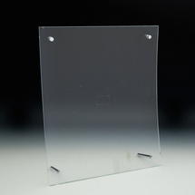 Clear Curved Euro-Style Print Holder - 8.5x11