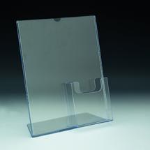 "TRU-VU® 8.5""w x 11""h Combo Literature Holder and Brochure Pocket"