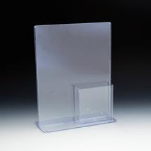 "TRU-VU® 8.5""w x 11""h Combo 4""w x 9""h Literature Holder and Brochure Pocket"