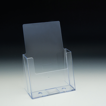 "Clear Countertop Brochure Holder for Literature up to 5.5"" wide"