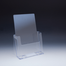 "Clear Countertop Brochure Holder for Literature up to 6"" wide"