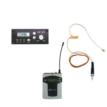 Add On - 96 Channel Panel Mount Receiver with Flesh Tone - Single Over-ear Mic Kit (Factory Installed)