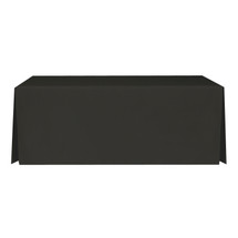 "6' Black, Valuecover, Wrinkle Resistant, Full, Pleated, 30""H, Non-FR, 300D"