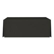 """6' Black, Valuecover, Wrinkle Resistant, Full, Pleated, 30""""H, Non-FR, 300D"""
