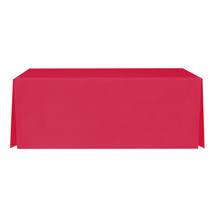 "6' Red, Valuecover, Wrinkle Resistant, Full, Pleated, 30""H, Non-FR, 300D"