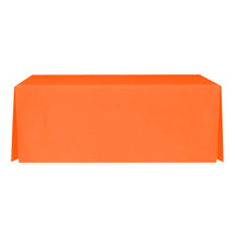 "8' Orange, Valuecover, Wrinkle Resistant, Full, Pleated, 30""H, Non-FR, 300D"