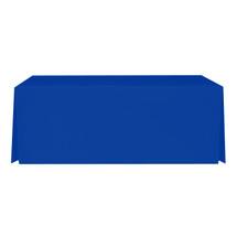 """8' Blue, Valuecover, Wrinkle Resistant, Full, Pleated, 30""""H, Non-FR, 300D"""