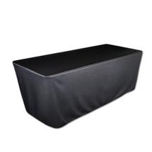 """8' Black, Valuecover, Wrinkle Resistant, Full, Fitted, 30""""H, Non-FR, 300D"""