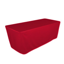 """8' Red, Valuecover, Wrinkle Resistant, Full, Fitted, 30""""H, Non-FR, 300D"""