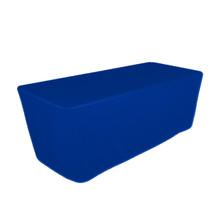"8' Blue, Valuecover, Wrinkle Resistant, Full, Fitted, 30""H, Non-FR, 300D"