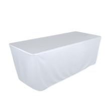 """8' White, Valuecover, Wrinkle Resistant, Full, Fitted, 30""""H, Non-FR, 300D"""