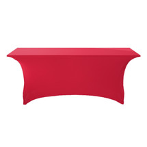 "6' Red Premium Full Wishboneleg 30""H Stretchcover"