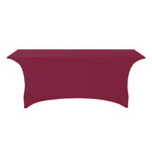 "6' Wine Premium Full Wishboneleg 30""H Stretchcover"