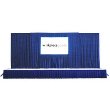 "16""H x 8'L Stage Skirting Twill Shirred (w/ Velcro Fasteners)"