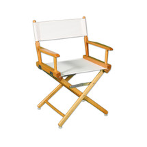"Regular(17""H)Director Chair W/Unprinted Canvas"