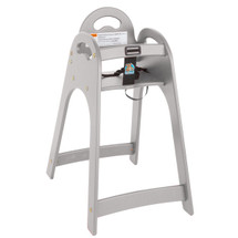 Gray Designer High Chair - Assembled