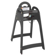 Black Designer High Chair - Assembled