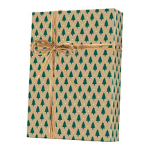 X2001, Little Trees/Kraft Gift Wrap - Available 4 widths and 3 roll sizes